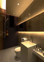 Downlight empotrable / para baño / LED / redondo