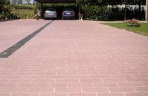 Baldosa de exterior / para pavimento / de piedra reconstituida / pulida