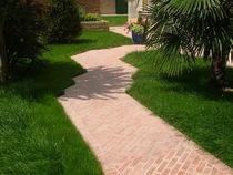 Baldosa de exterior / para pavimento / de piedra reconstituida / mate