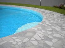Baldosa para playa de piscina / para suelo / de piedra reconstituida / mate