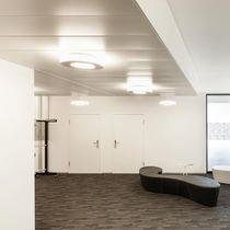 Falso techo de aluminio / en láminas