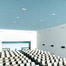 Falso techo de aluminio / de acero / en láminas
