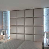 Panel decorativo de malla metálica / acrílico / para revestimiento interior