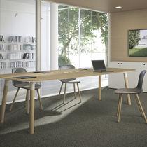 Mesa de reuniones moderna / de roble / de haya / rectangular