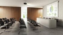 Mesa de conferencia moderna / de madera lacada / rectangular / para edificio público