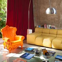 Sillón de diseño nuevo barroco / de polietileno / naranja / para edificio público