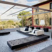 Sofá de esquina / modular / moderno / para jardín