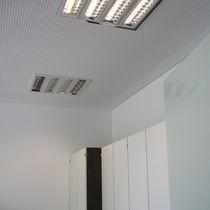 Luminaria empotrable de techo / fluorescente / cuadrada / de aluminio