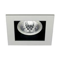 Downlight empotrable / halógeno / cuadrado / de aluminio fundido