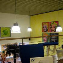 Luminaria suspendida / HID / fluorescente compacta / halógena
