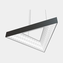Luminaria suspendida / LED / triangular / de PMMA