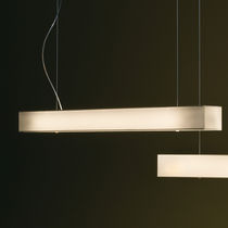 Luminaria suspendida / fluorescente / rectangular / de metal