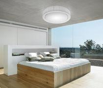 Plafón moderno / redondo / de metal / fluorescente compacta