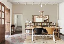 Lámpara suspendida / moderna / de madera / interior