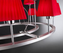 Lámpara araña moderna / de hierro / de cromo / de algodón