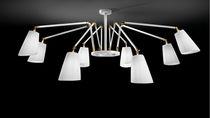 Lámpara araña moderna / de latón / de cromo / de tela