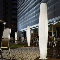 Columna luminosa moderna / de polietileno / fluorescente / de interior