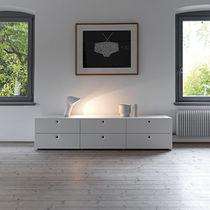 Cómoda moderna / de madera lacada / blanca