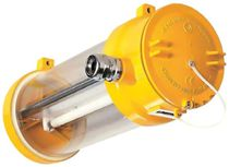 Iluminación de emergencia suspendida / tubular / fluorescente compacta / de plástico