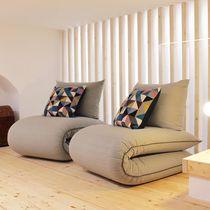 Sillón bajo moderno / de tejido / cama / futón