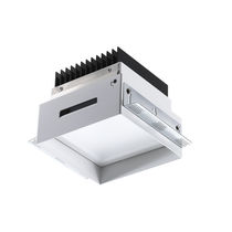 Downlight empotrable / LED / cuadrado / de aluminio