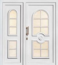 puerta de entrada abatible de aluminio