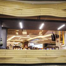 Panel decorativo de madera compuesta / de pared / 3D / aspecto madera