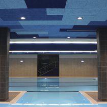 Falso techo de madera / de material compuesto / tipo panel / acústico