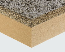 Panel aislante de alto rendimiento / aislante de fibra de madera aglomerada / alma de fibras de madera / una cara de madera