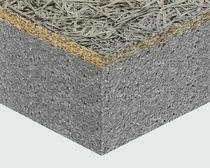 Panel sándwich aislante para tejado / para muro / anverso de fibra de madera / alma de poliestireno expandido