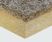 Panel aislante de alto rendimiento / aislante de fibra de madera aglomerada / alma de lana de roca / una cara de madera