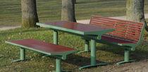 Mesa de pícnic moderna / de PET / de acero inoxidable / rectangular