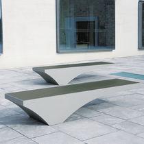 Banco público / de diseño original / de aluminio / de acero inoxidable