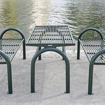Mesa de pícnic moderna / de acero inoxidable / rectangular / profesional