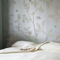 Papeles pintados clásicos / de seda / con motivos florales / hechos a mano