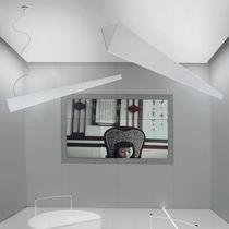 Luminaria suspendida / fluorescente / lineal / en chapas
