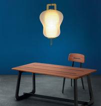 Lámpara suspendida / moderna / de papel / de aluminio