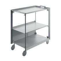 Mesa carrito de servicio / de oficina / de acero / de aluminio