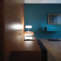 Lámpara de mesa / moderna / de vidrio / de metal
