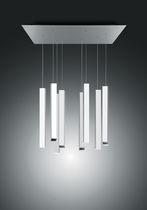 Lámpara araña moderna / de aluminio / de metacrilato / LED