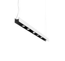 Luminaria suspendida / fluorescente / lineal / de plástico