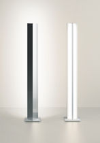 Columna luminosa moderna / de vidrio / de metal / LED