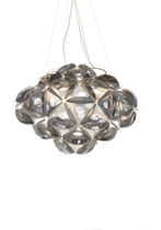 Lámpara suspendida / moderna / de metal / escultura