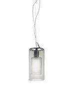 Lámpara suspendida / moderna / de metal cromado / de vidrio borosilicato