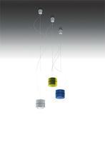 Lámpara suspendida / moderna / de metal cromado / LED
