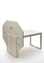 Mesa moderna / de madera / rectangular / extensible