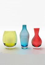 Florero moderno / de vidrio soplado