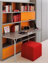 Biblioteca moderna / de madera / de madera lacada