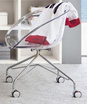Silla de oficina moderna / con ruedas / para niños / de metal cromado