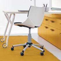 Silla de oficina moderna / para niños / con patas en forma de estrella / de tejido